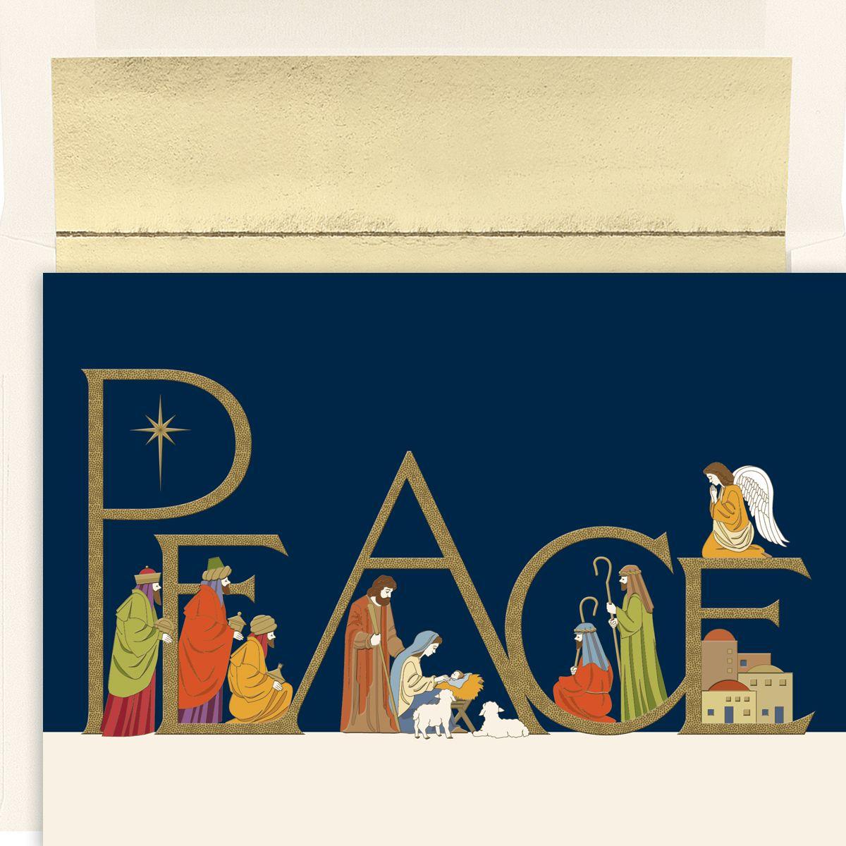 Vintage Greeting Card Christmas 1940s Nativity Music