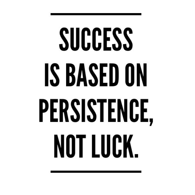 Todays Inspiration Considering That Success Is Not Based On Luck