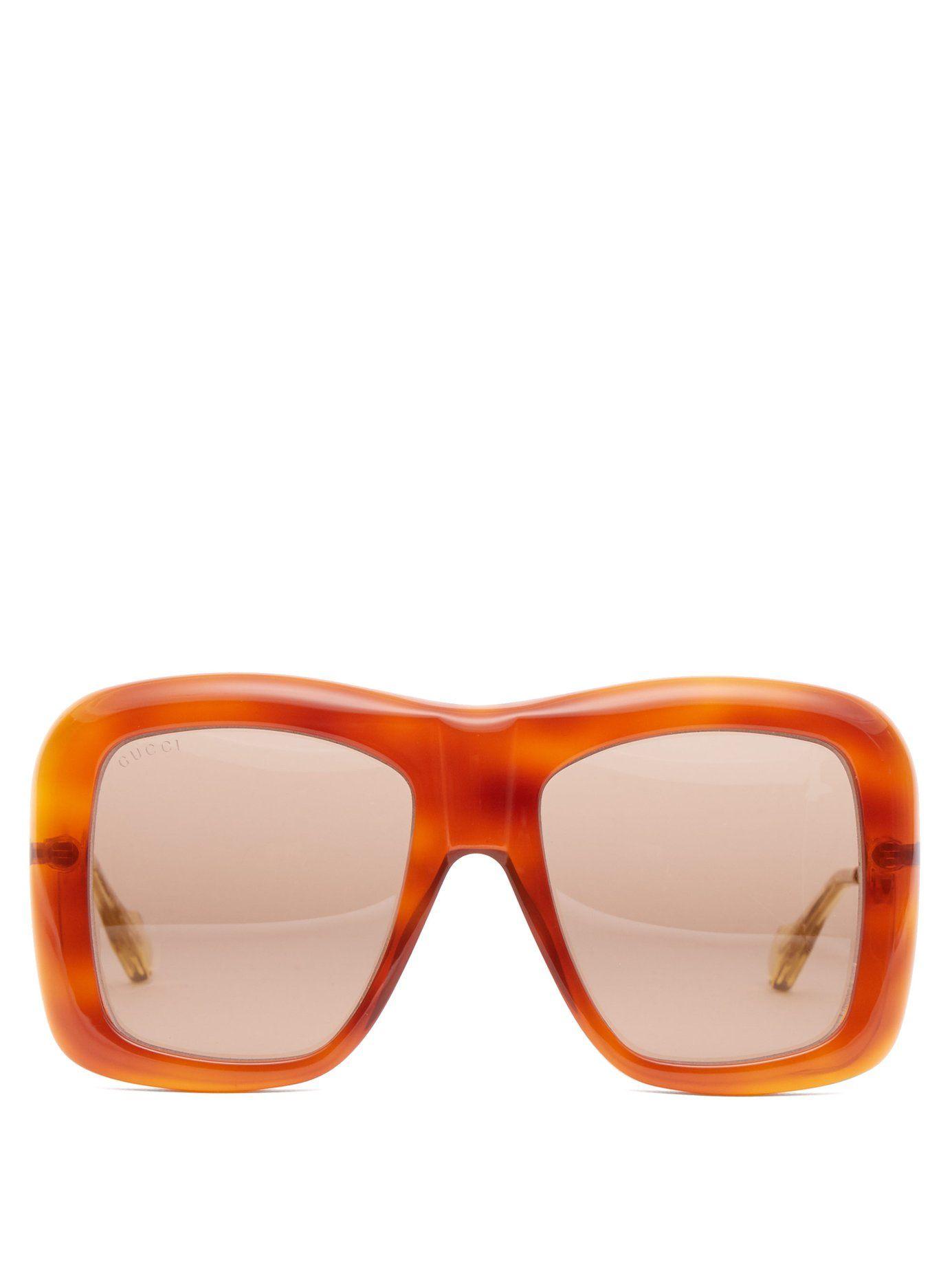 94521557ec4c8 Square-frame acetate and metal sunglasses