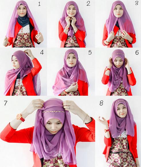 Tutorial Hijab Pashmina Untuk Lebaran Simple Kursus Hijab Jilbab Sederhana Gaya Hijab