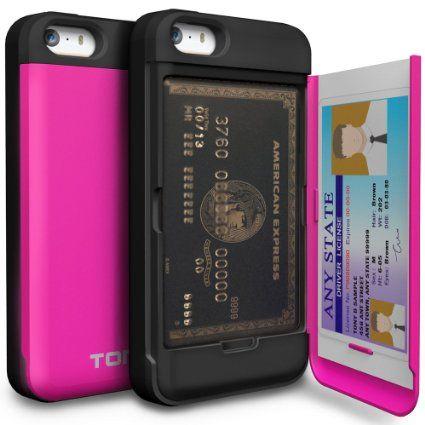 5065f9da6157f Amazon.com: iPhone 5S Case, TORU [CX PRO] iPhone SE Wallet Case ...