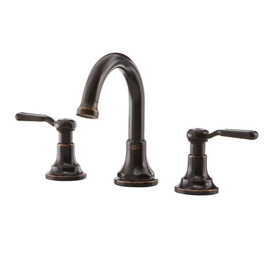KOHLER Worth 8 in. Widespread 2 Handle Bathroom Faucet in Oil