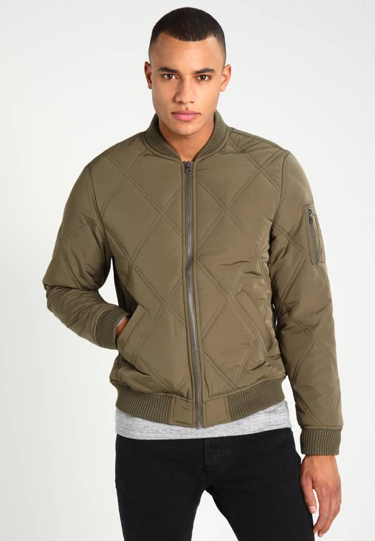KHAKI MEN/'S New Look Giacca Bomber Uomo