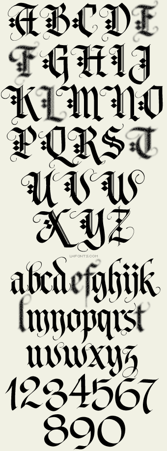 Letterhead Fonts / LHF Tributary / Old English Fonts | Cool