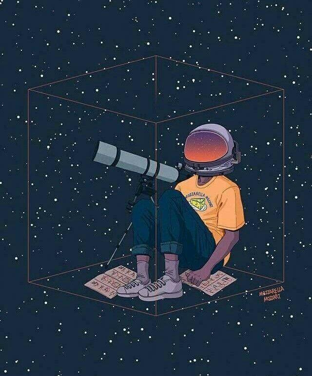 #Astronaut #Space #Uzay #Stars #Cosmos #Galaxy #Drawing # ...