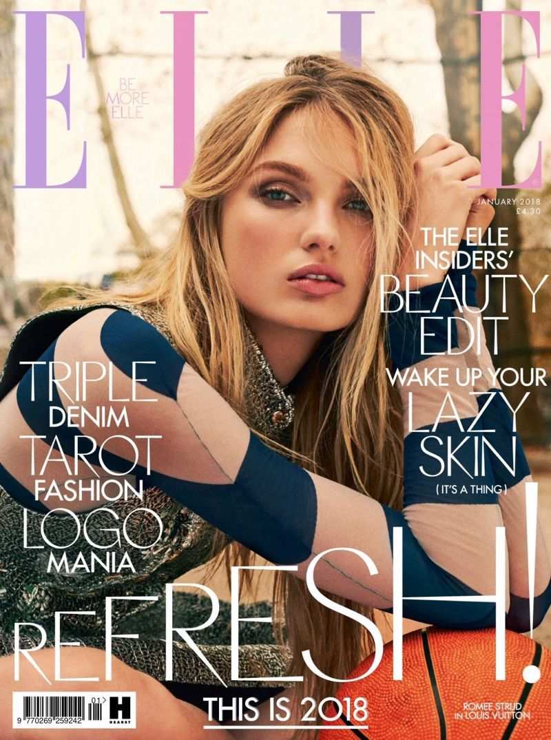 9d5d51f6ae Romee Strijd is ready for her closeup on the January 2018 cover of ELLE UK.