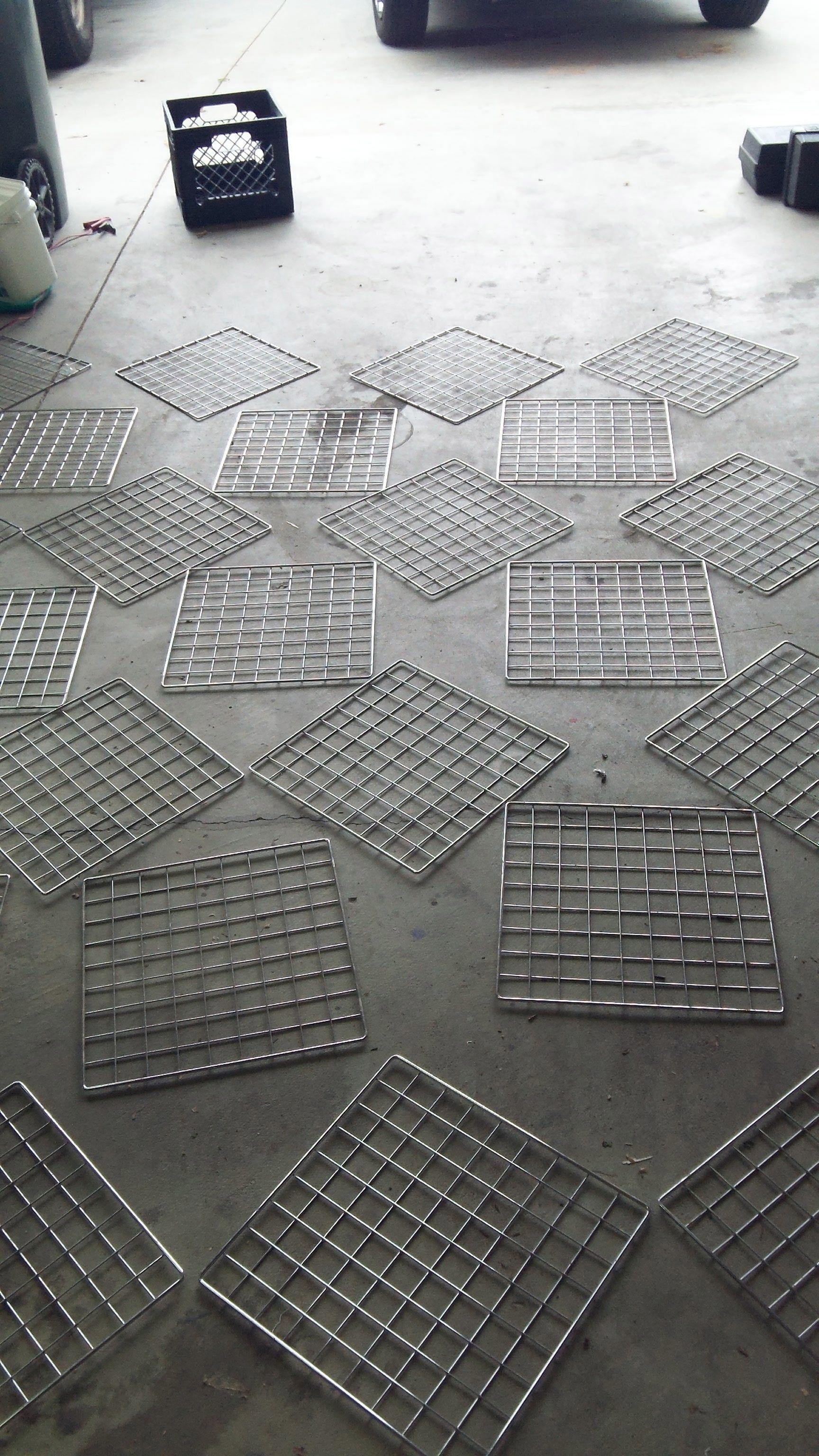 Repurpose a wire mesh shelf into a hanging garden trellis | Garden ...