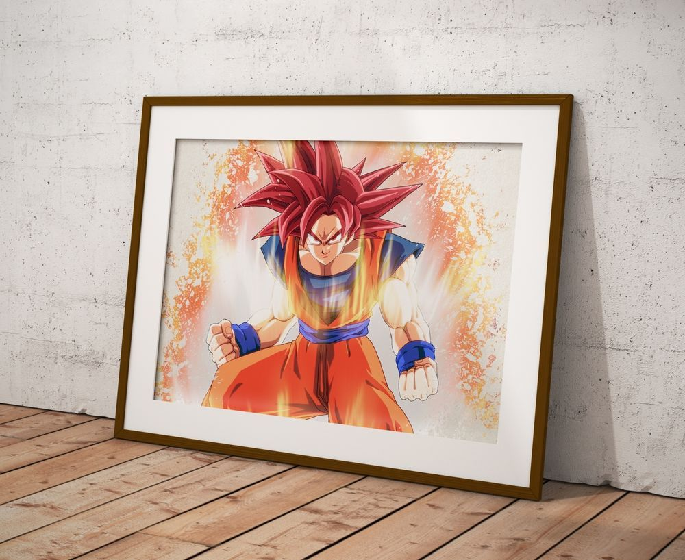 Dragon ball z anime poster watercolor wall art otaku print anime dragon ball z anime poster watercolor wall art otaku print anime poster gift r18 amipublicfo Images