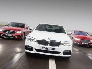 BMW 5 Series vs Mercedes E-Class vs Jaguar XF