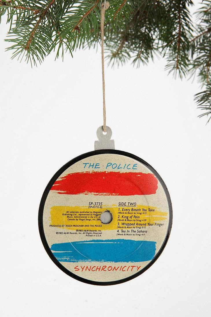 Vinyl Record Ornament Tis The Season Vinyl Records Ornaments