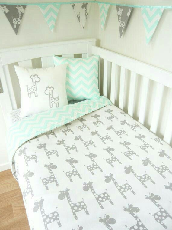 Nursery Baby Room Grey Giraffe Sets