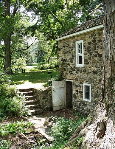 The Old Springhouse Old Stone Houses Stone Cottages Stone Houses