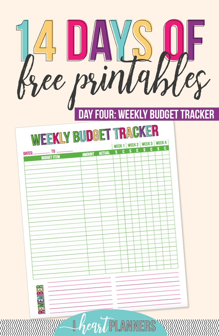 day 4 weekly budget tracker organize me pinterest budgeting