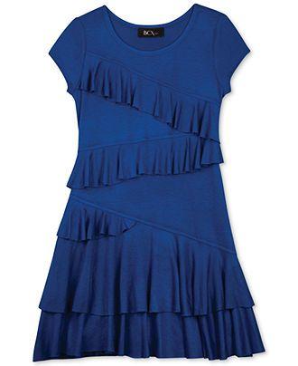 BCX Girls' Knit Ruffle Dress - Kids - Macy's