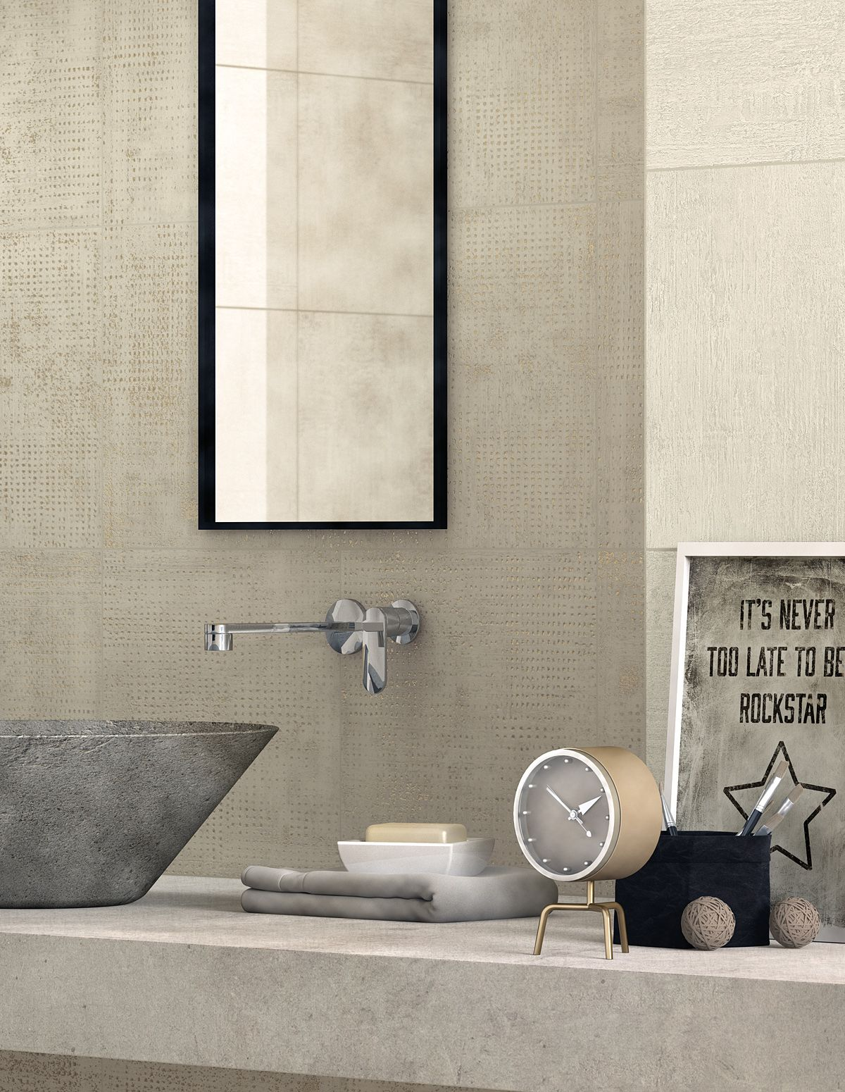 Decorative Wall Tiles For Bathroom Our Handmade Series Wall Tile In A Slick Modern Bathroom