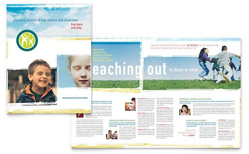 Special Education Brochure Template by @StockLayouts Child Care - school brochure template
