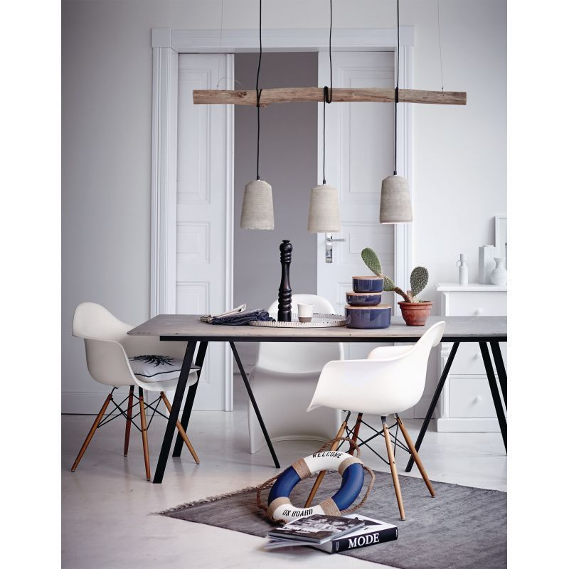 deckenleuchte lampe aus beton h ngelampe industrial look esstischlampe mit ast ebay. Black Bedroom Furniture Sets. Home Design Ideas