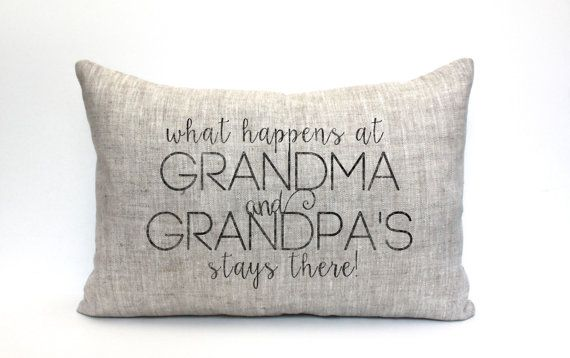 grandparent gift grandparent pillow gift for her name by coverLove