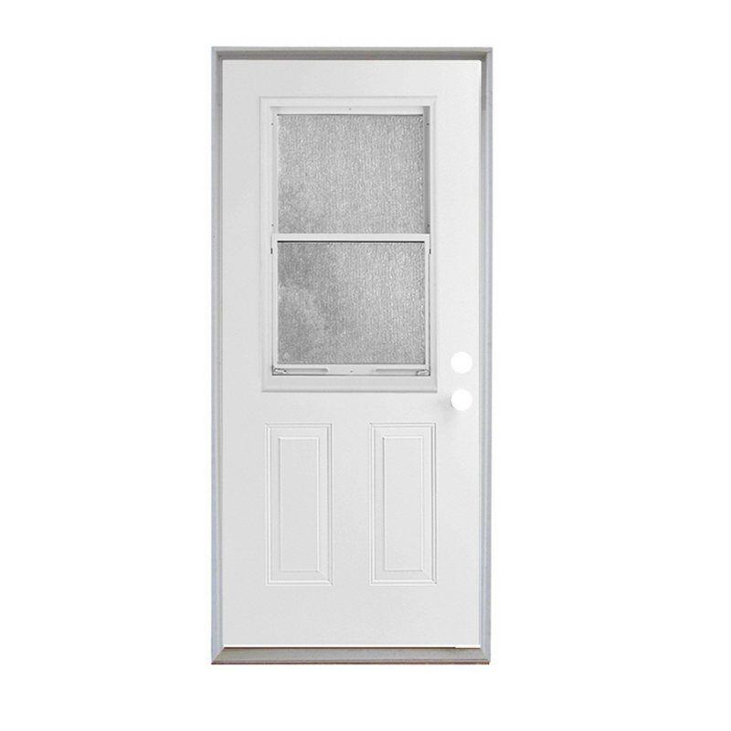 Reliabilt 54021 Half Lite In Swing Steel Door Entry Doors Exterior Doors With Glass Exterior Kitchen Doors