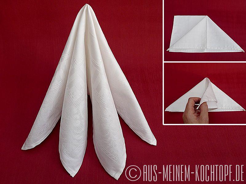 Hervorragend Servietten falten: Vom Tafelspitz zur Bestecktasche | Napkins SH16