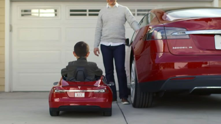 Tesla Car Coloring Pages : Radio flyer tesla model s mini electric car for kids is eco riffic