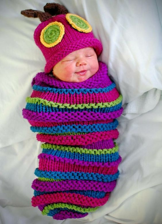 Hungry Caterpillar Baby Cocoon and Hat