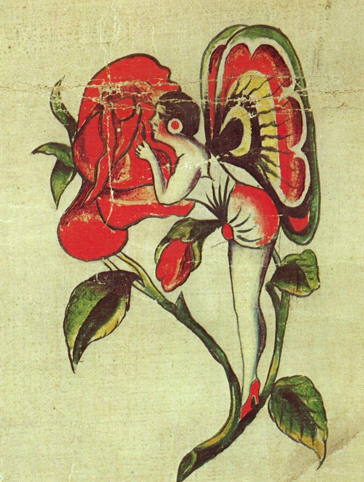 Traditional Butterfly Tattoo Flash: William Grimshaw, Tattooist