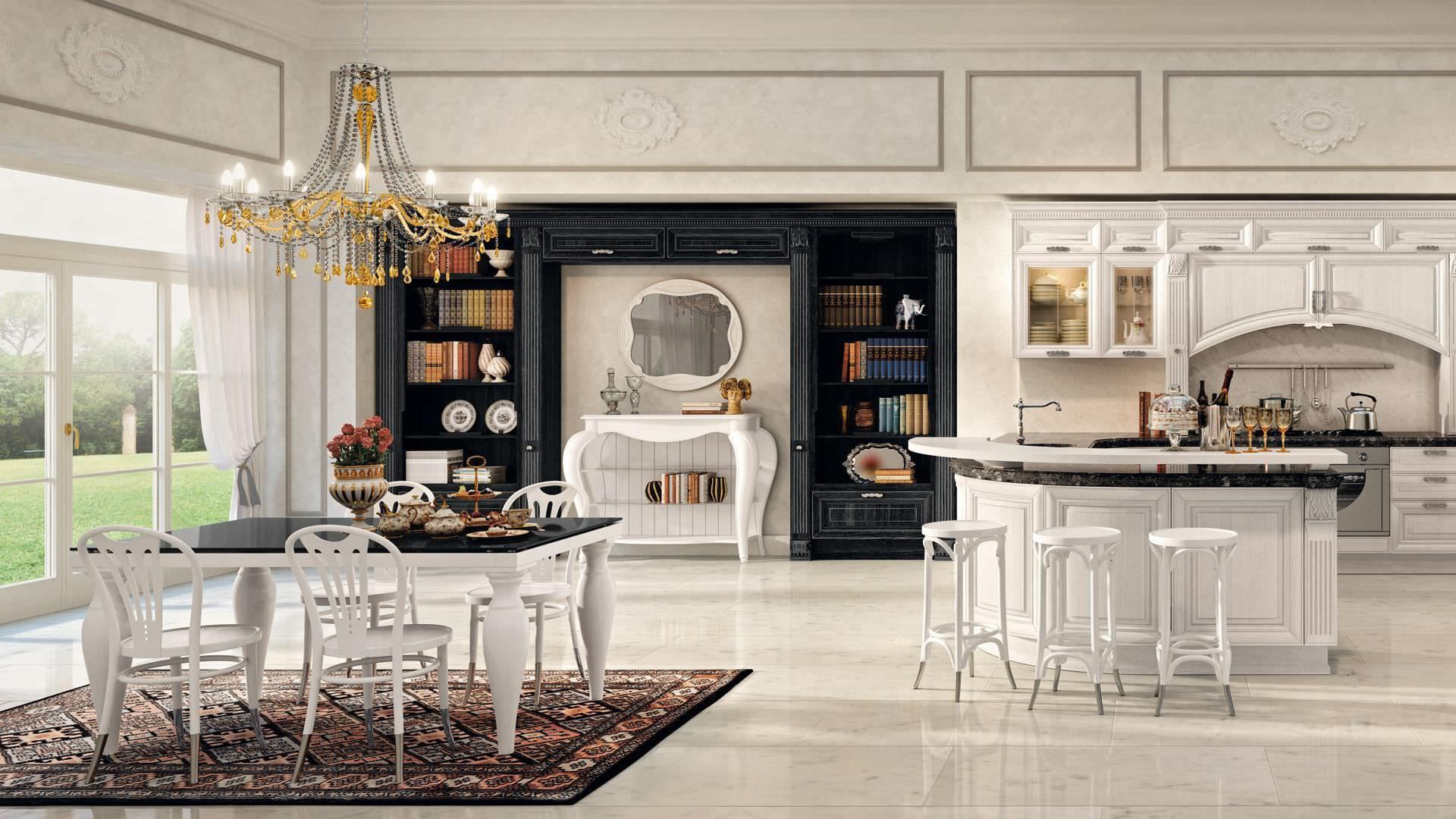 Cocina clásica / de chapa de madera / pintada - PANTHEON - CUCINE ...