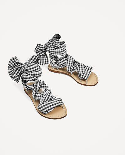 Fgg5wzq0 Sandalias Mujer 5fqYndxOnv Sandalia Atada Zapatos Colombia Zara  Planas Plana wqI78I 6f0dbd8e6ee