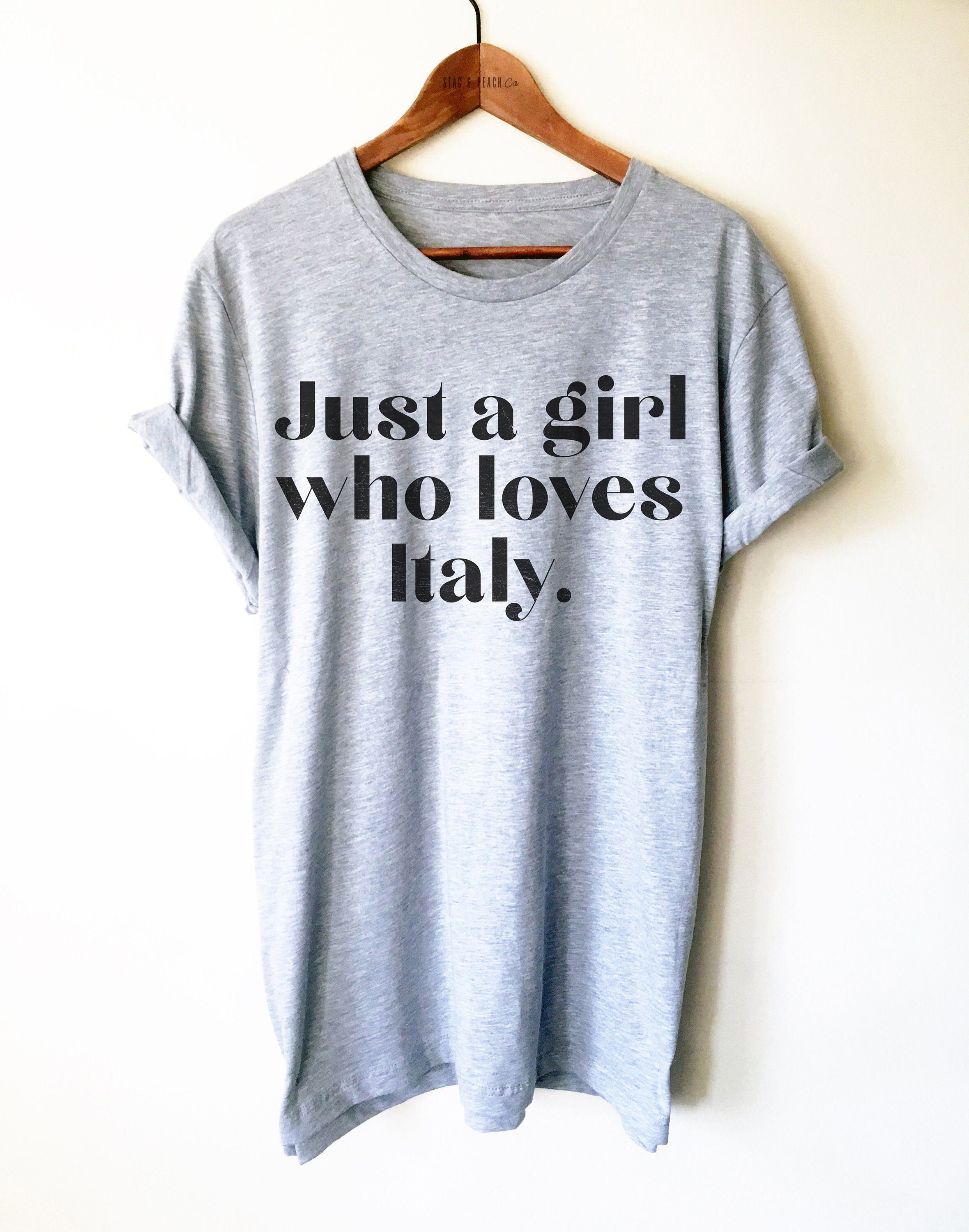 Italy Shirt/Tank Top/Hoodie Italy Gift, Italy TShirt