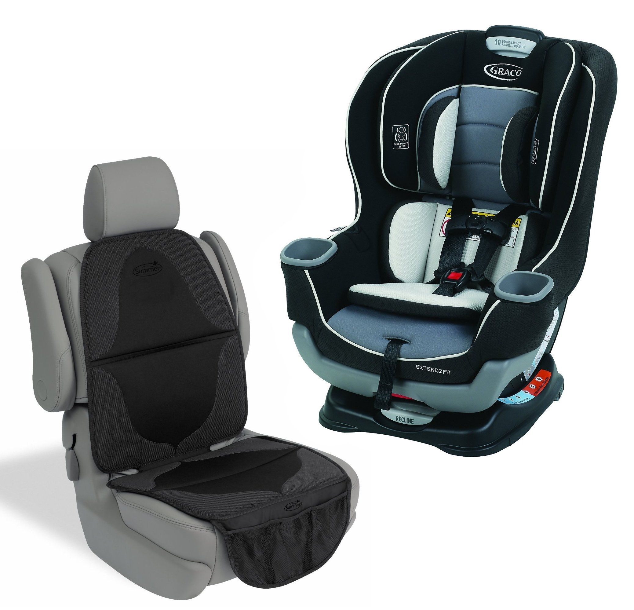 Graco Extend2Fit Convertible Car Seat With Mat Gotham Helps Protect Rear Facing