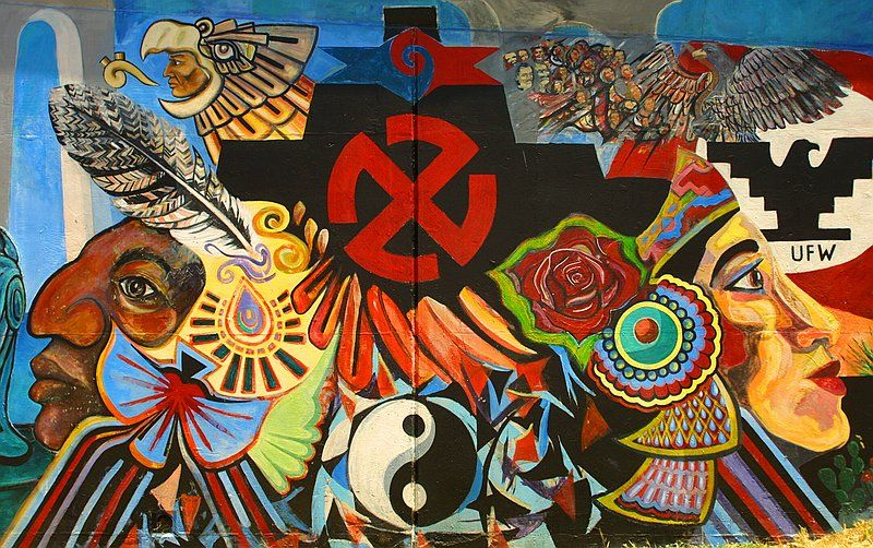 A Mural From Chicano Park In San Diego Ca Chicano Park Chicano Chicano Love