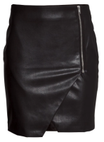 H&M Leather Wrap Skirt