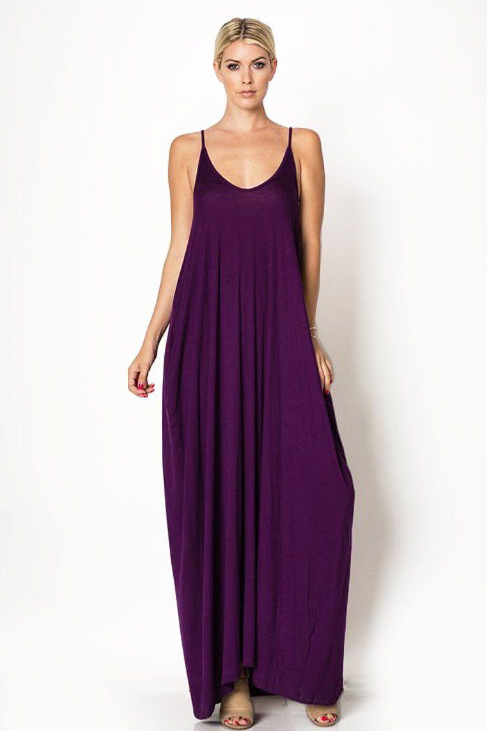 Basic Maxi Jurk.Reliant Harem Maxi Dress In 2019 Purple People Pleasers Dresses