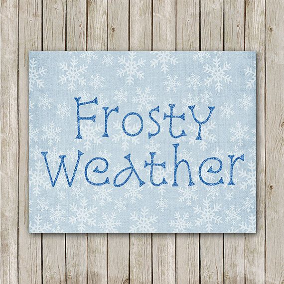 Frosty Weather Print 5x7 Instant Download by MossAndTwigPrints