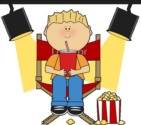 Boy in directors chair. | Clip Art-Movies | Movies, Movie ...