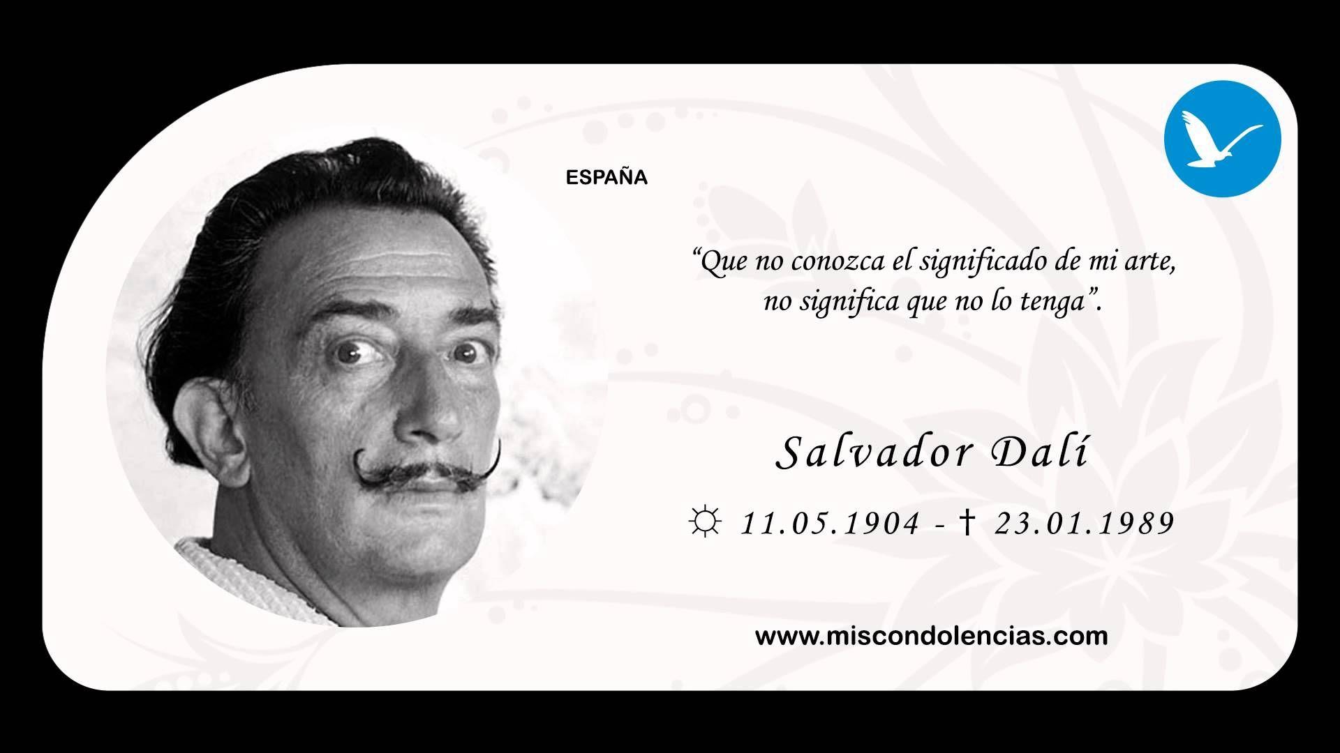 Salvador Dali Frases Buscar Con Google Salvador Dalí El