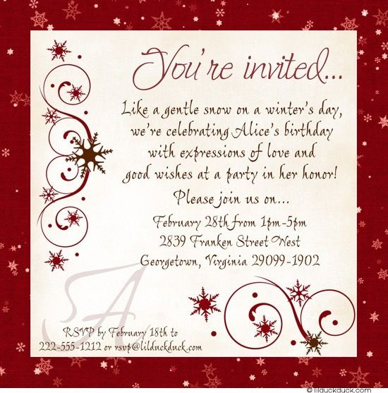 winter sweet 16 party invitations icy blue gray birthday