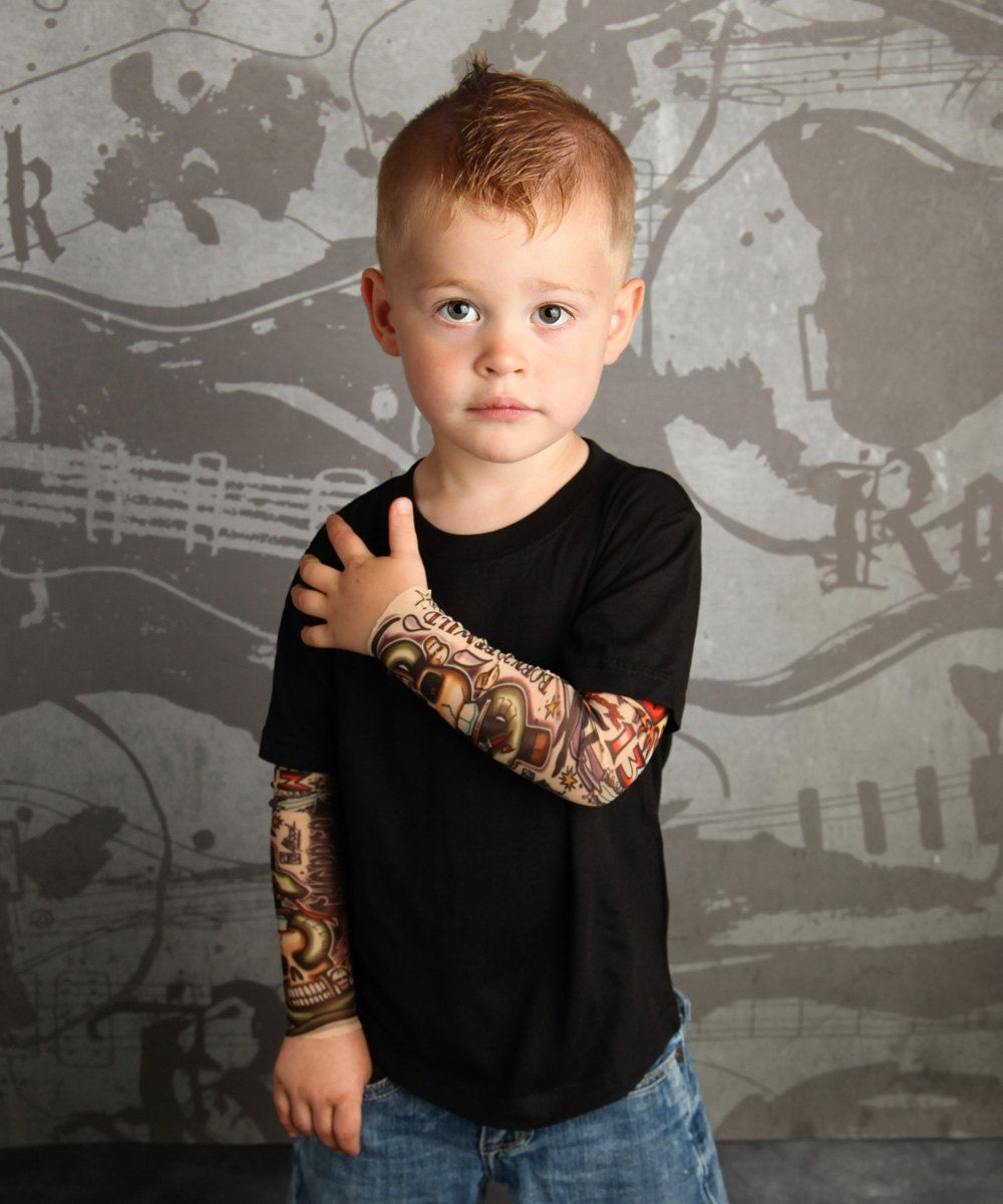 Tattoo Baby Born to Be Wild T shirt for Babies and