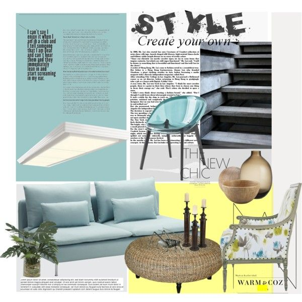 Style by janephoto on Polyvore featuring polyvore interior interiors interior design home home decor interior decorating Jeffan CALLIGARIS Crate and Barrel Lux-Art Silks Cyan Design Ethan Allen Currey & Company Bloomingville Levi's design