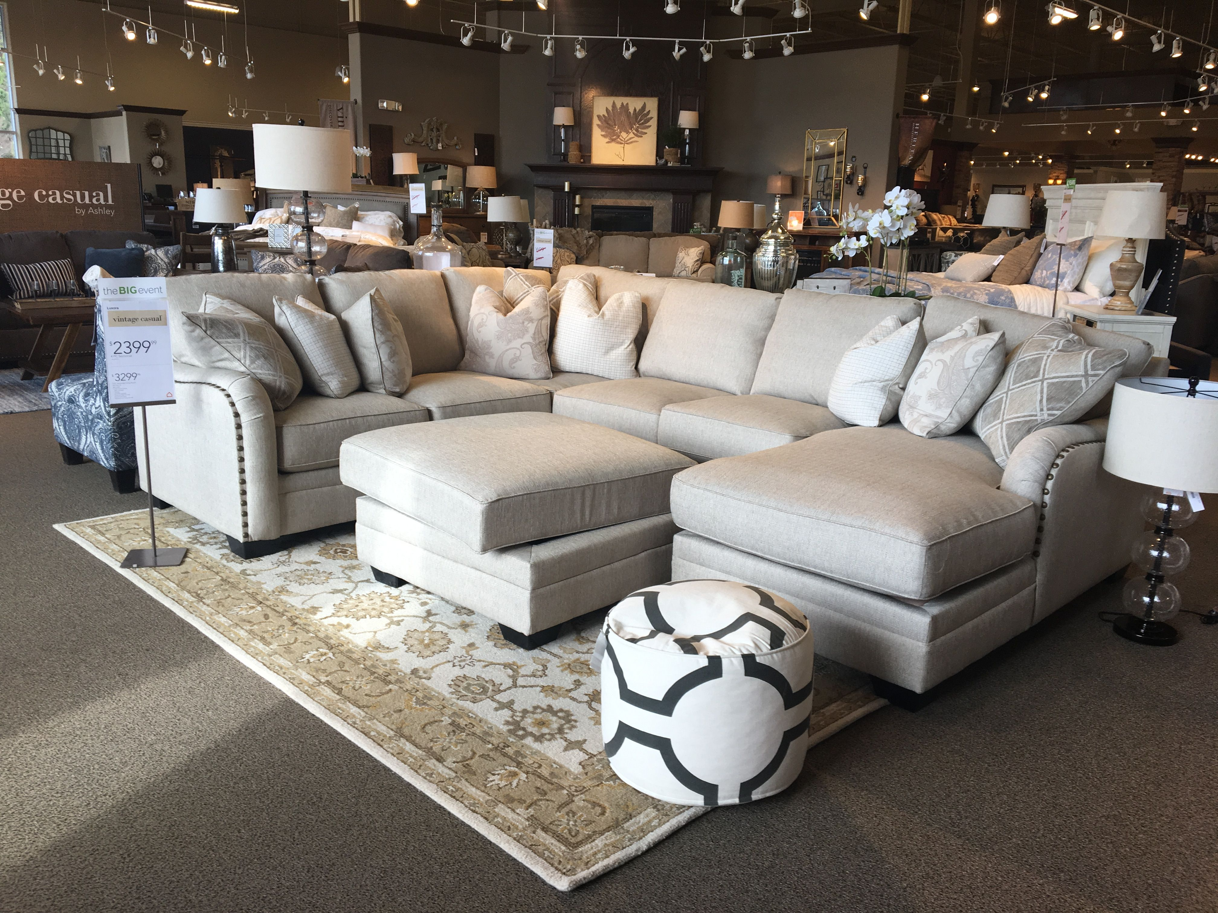 Luxora Sectional Ashley Furniture Ashley Furniture Living Room
