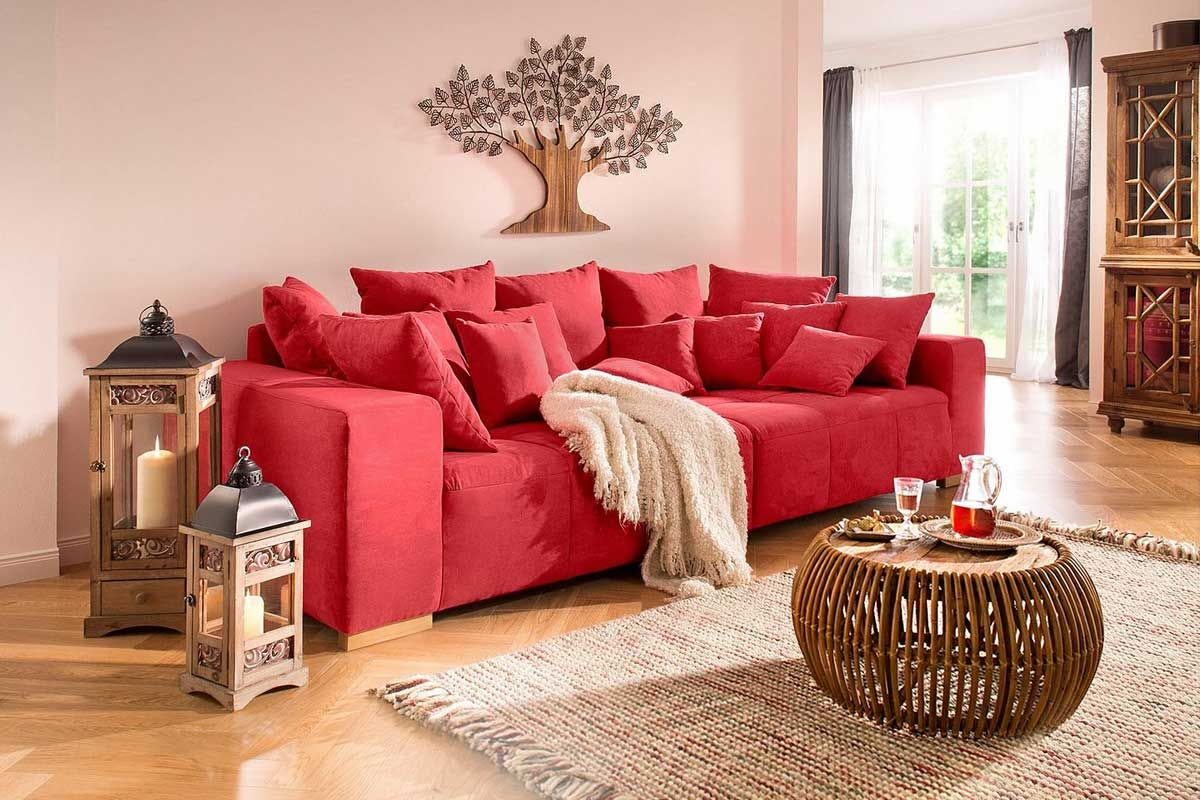 Buchanan Sofa With Chaise Can I Spray Paint My Soo Gemütlich Die Rote Farbe Des Sofas Bringt Dir