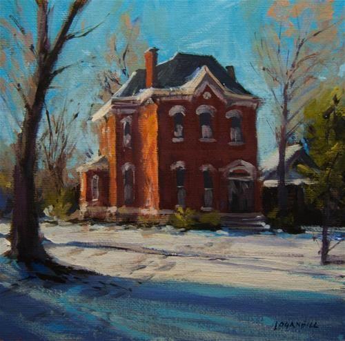 "Daily Paintworks - ""Late Winter Morning"" - Original Fine Art for Sale - © Joseph Loganbill"