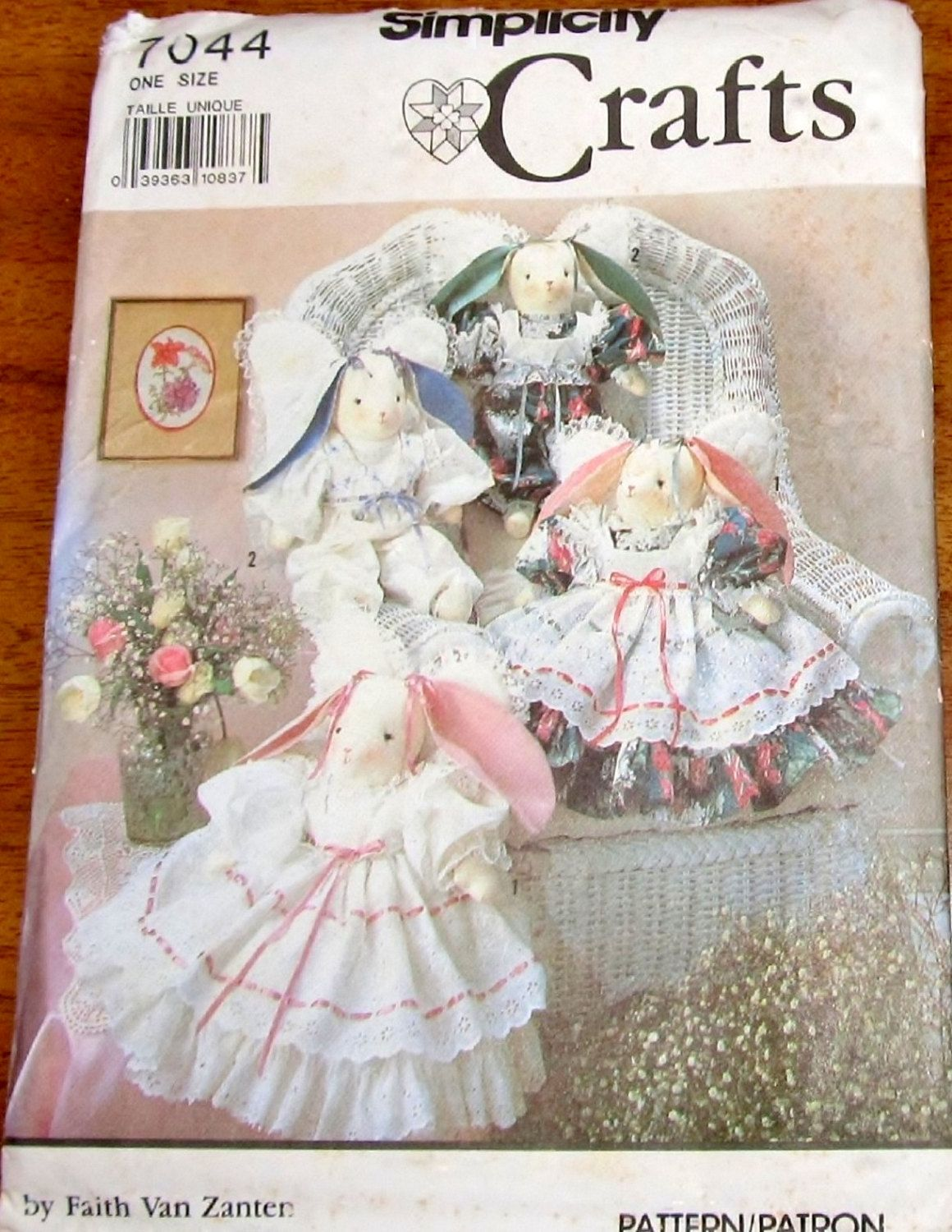 Simplicity 7044 Stuffed Angel Bunny Dolls, Clothes, Wings, Easter ...