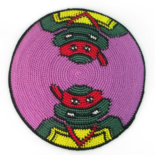 Teenage Mutant Ninja Turtles Yarmulke | Knitting | Pinterest