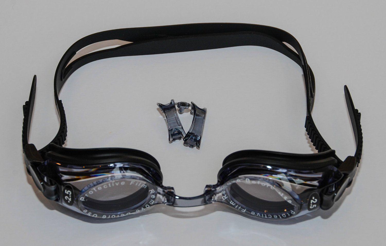 b0579a0badb Sports Vision s Prescription Optical Swimming Goggles Adult Black Minus    Plus Powers UV Tint Sports Vision