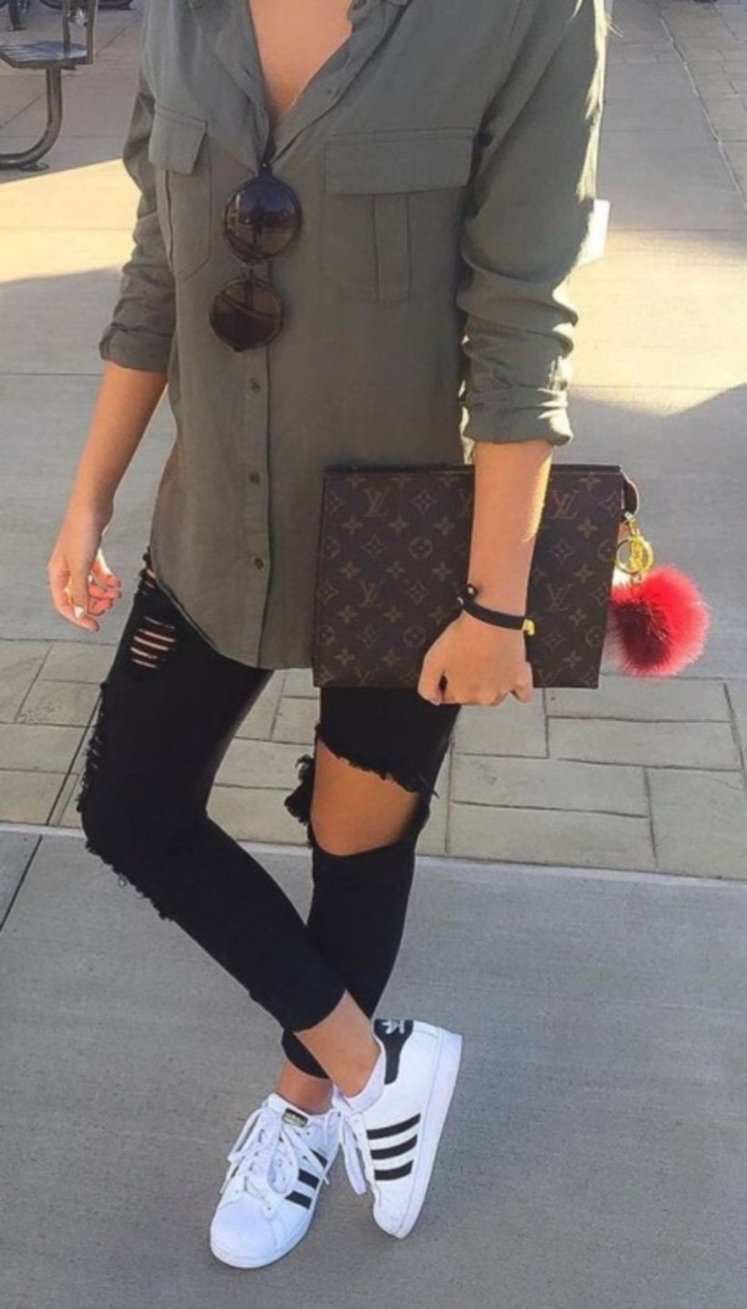 4eb737e8618 Stunning 46 Ways to Combine your Outfit with Adidas Shoes  #FashionTrendsShoes