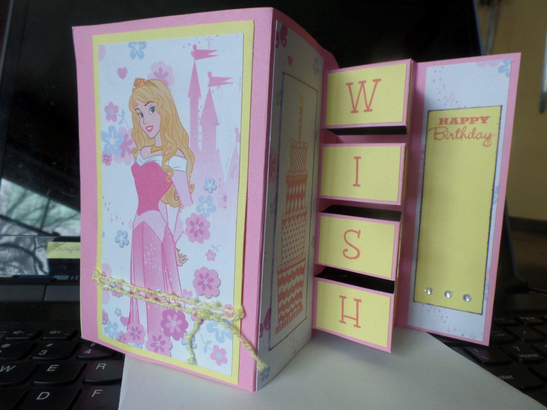 Disney Princess Building Block Birthday Card By Deborahscardcreation