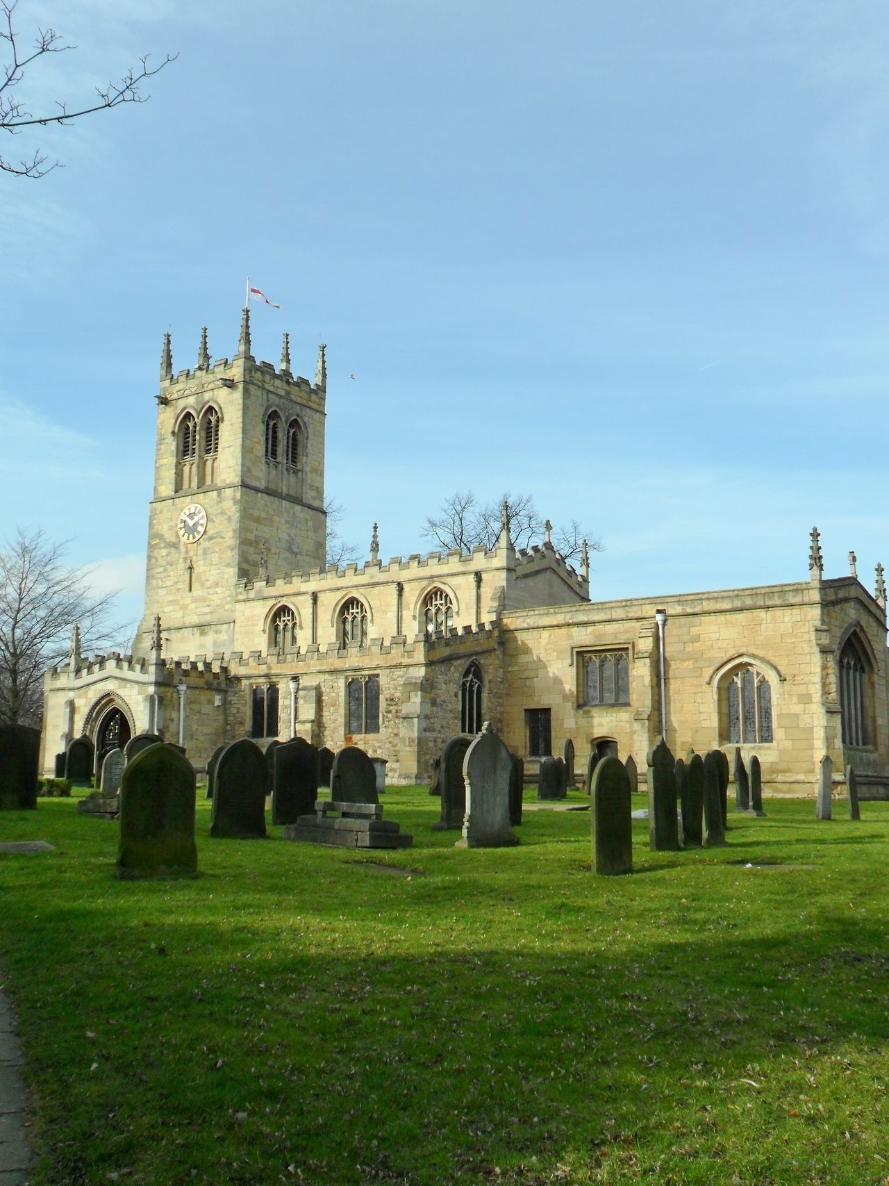 St Peters Church, Conisbrough, the oldest building in