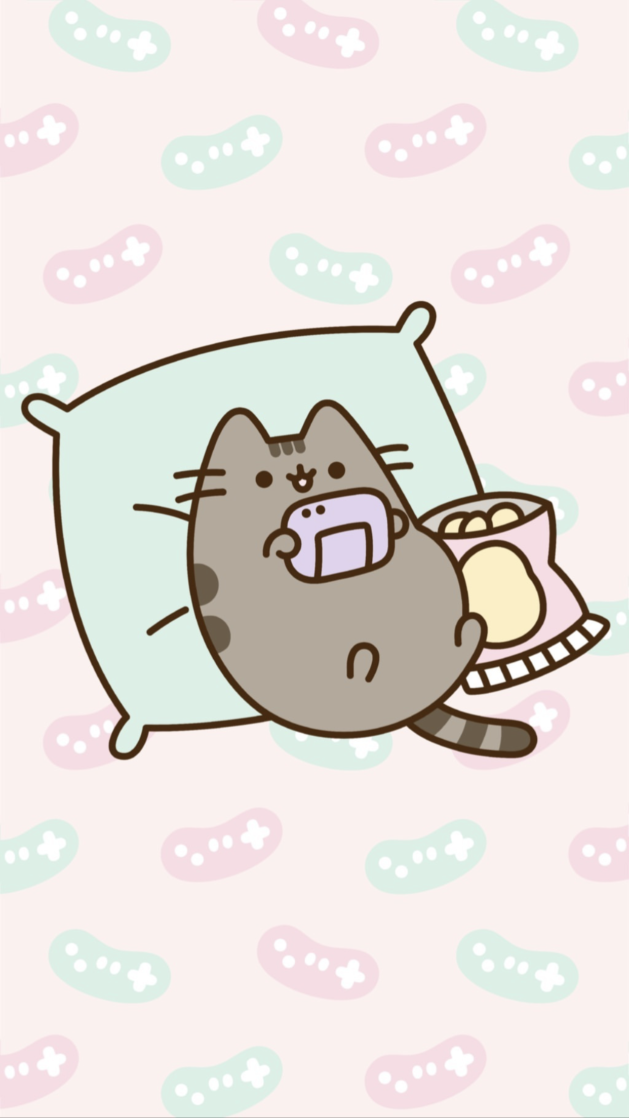 Pusheen The Cat Iphone Wallpaper Background Pusheen Gamer Kitty Pusheen Cute Pusheen Cat Kawaii Wallpaper
